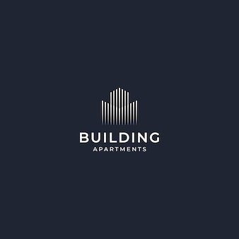 Inspiracja logo design budynek elegancki