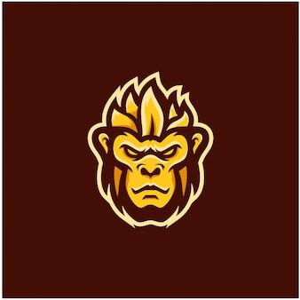 Inspiracja logo esportu małpy