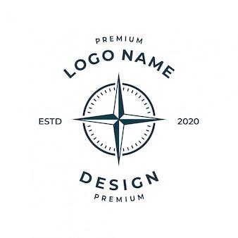 Inspiracja logo kompasu.