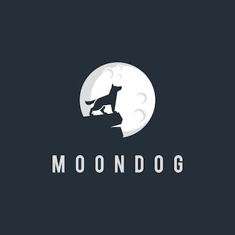 Inspiracja logo księżyca i psa