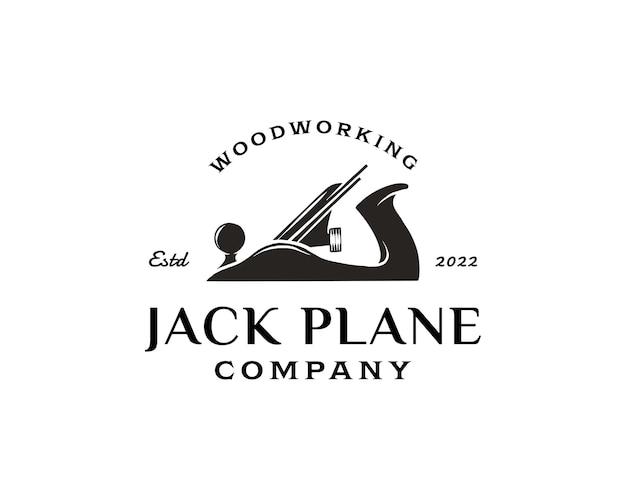 Inspiracja logo narzędzia do obróbki drewna w stylu vintage szablon projektu przemysłowego lub firmy narzędziowej