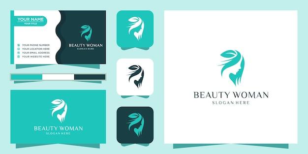 Inspiracja logo piękna kobiet