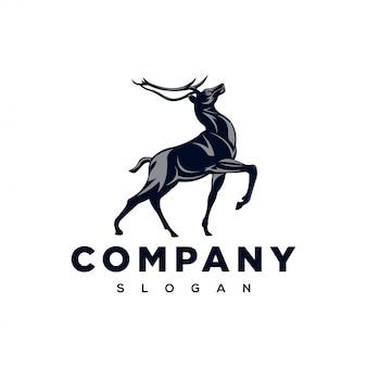 Inspiracja logo silnego jelenia