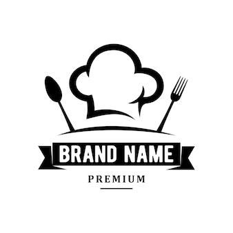 Inspiracja logo szefa kuchni lub restauracji