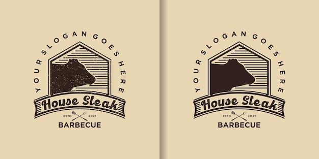 Inspiracja logo vintage steak house