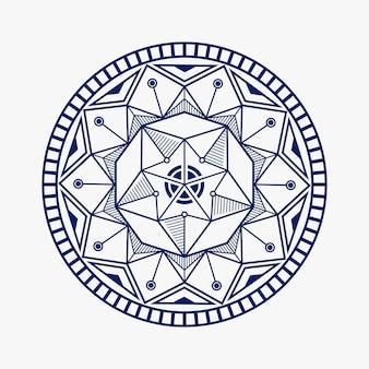 Inspiracja lotosu projekt mandala