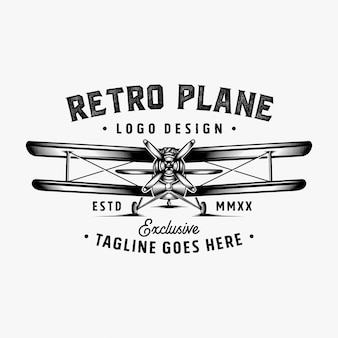 Inspiracja projekt retro logo samolotu