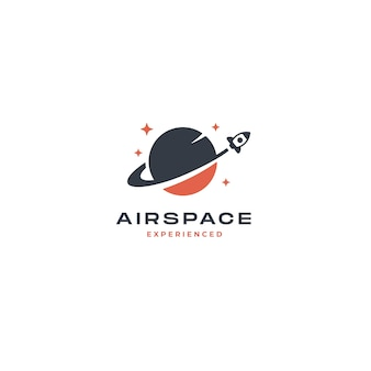 Inspiracja rocket planet logo