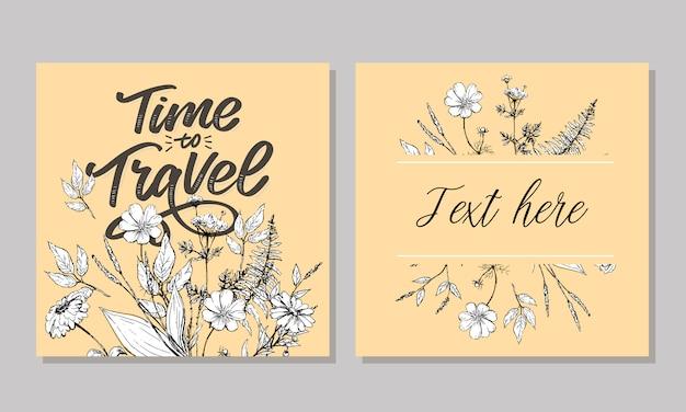 Inspiracja stylem życia podróży cytuje napis. motywacyjna typografia. element graficzny kaligrafii. zbieraj chwile stare sposoby nie otworzą nowych drzwi. chodźmy odkrywać. każde zdjęcie opowiada historię
