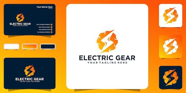 Inspiracje do projektowania logo sprzętu i elektrycznego z inspiracją do wizytówek