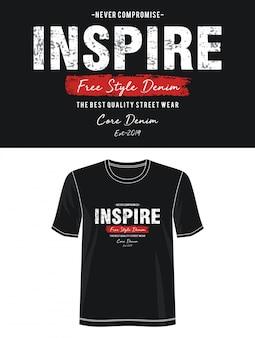 Inspirować typografię do nadruku t shirt