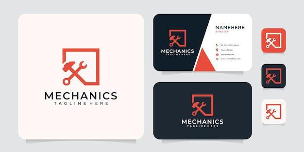 Inspirujące logo firmy naprawa sprzętu mechanicznego