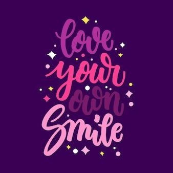 Inspirujące napis miłość do siebie