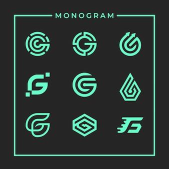 Inspirujący monogram litery g.