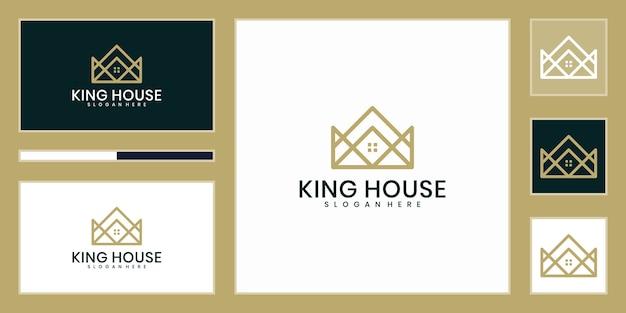 Inspirujący projekt logo luksusowego domu króla