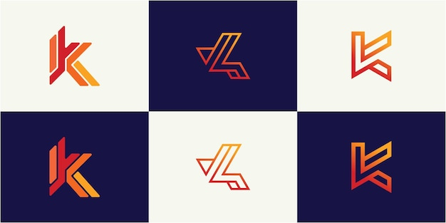 Inspirujący szablon projektu logo monogram litery k