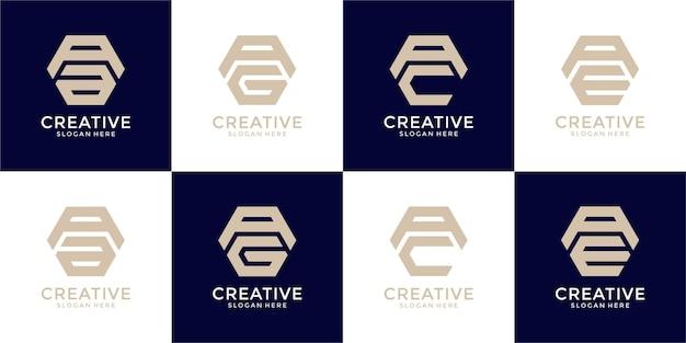 Inspirujący szablon projektu logo monogram