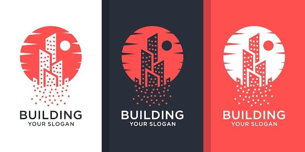 Inspirujący zestaw logo nieruchomości