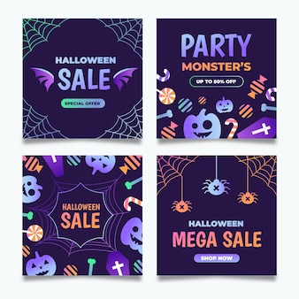 Instagram post pack na halloween