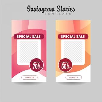 Instagram stories szablon sprzedaż banner