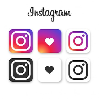 Instagram zbiór ikon