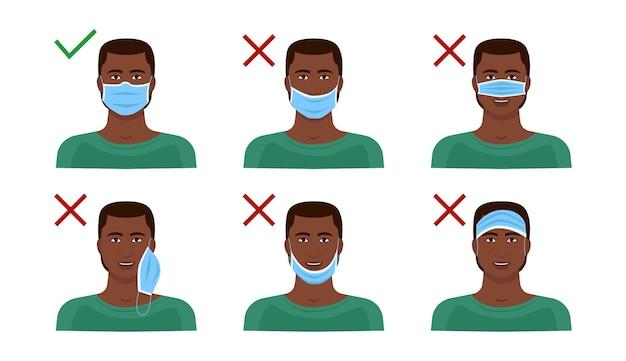 Instrukcje dotyczące prawidłowego noszenia maski