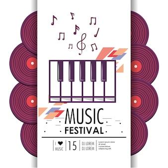 Instrument klawiszowy fortepian na festiwal muzyczny