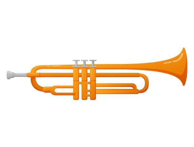Instrument muzyczny dęty trąbka do muzyki klasycznej i jazzu.