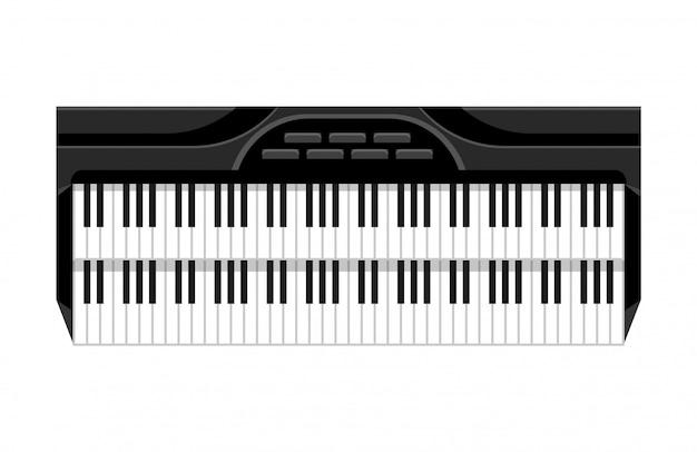 Instrument muzyczny na klawiaturze. odosobniony wizerunek klawiatura. ilustracja - sprzęt muzyków. narzędzie dla miłośnika muzyki