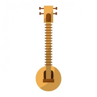 Instrument muzyczny sitar indyjski