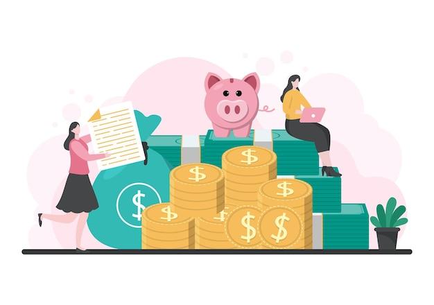 Instrumenty dłużne kredytu hipotecznego, które są zabezpieczone aktywami majątkowymi, takimi jak usługi związane z nieruchomościami, wynajem, zakup domu lub dom aukcyjny. ilustracja wektorowa tła