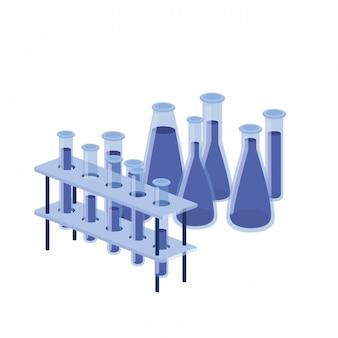 Instrumenty laboratoryjne na białym tle