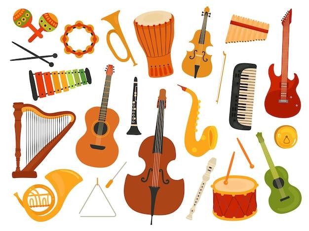 Instrumenty muzyczne.