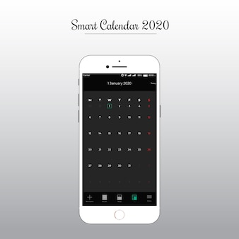 Inteligentna aplikacja kalendarza ui ux