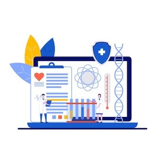 Inteligentna opieka zdrowotna, nowoczesna koncepcja metody leczenia z charakterem.