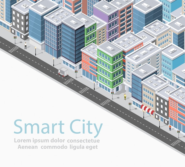 Inteligentne miasto izometryczne