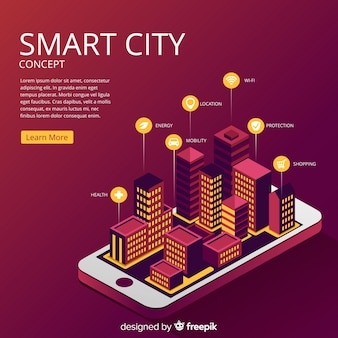 Inteligentne miasto koncepcja tła