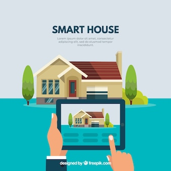 Inteligentne tło domu z kontrolą smartfona