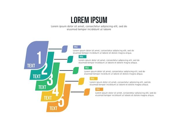Inteligentne tło prezentacji infografikę i statystyki slajdów szablonu