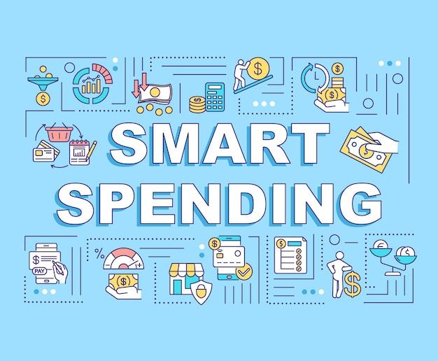 Inteligentne wydatki słowo koncepcje transparent