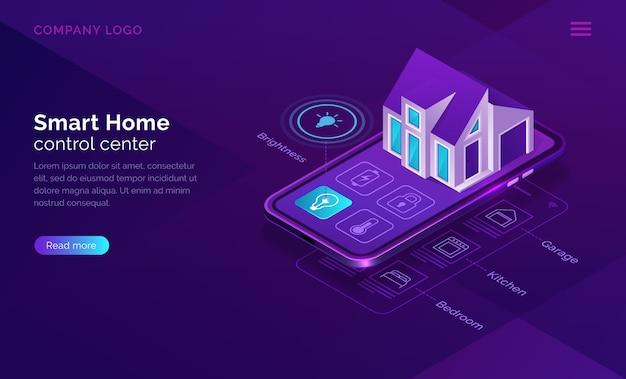 Inteligentny dom izometryczny, internet rzeczy koncepcji