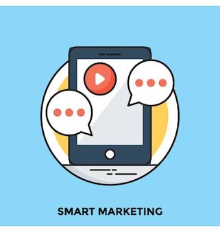 Inteligentny marketing płaski wektor ikona