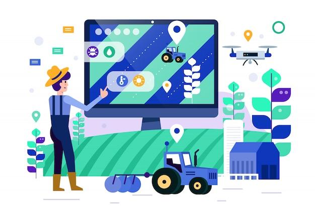 Inteligentny monitor rolników i kontrola inteligentnej farmy.