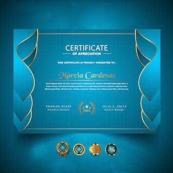 Inteligentny nowy certyfikat osiągnięć nowy szablon