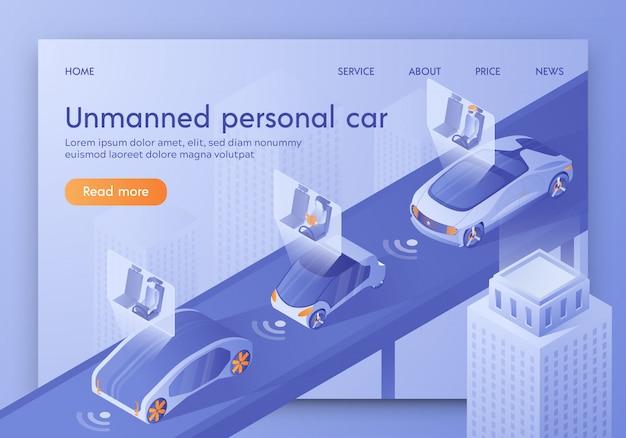 Inteligentny pojazd z pasażerami siedzącymi w kokpicie.