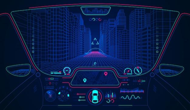 Inteligentny samochód hud