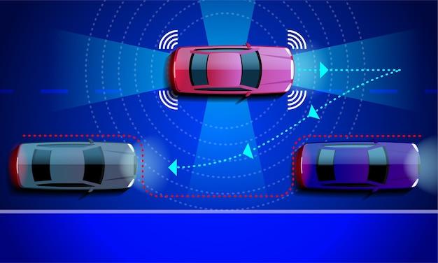 Inteligentny system wspomagania parkowania samochodu równoległe parkowanie.