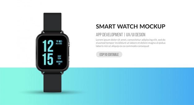 Inteligentny zegarek do tworzenia aplikacji i ux / ui, akcesoria sportowe do fitnessu
