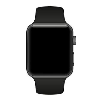 Inteligentny zegarek na białym tle z ikonami na białym tle. ilustracja.