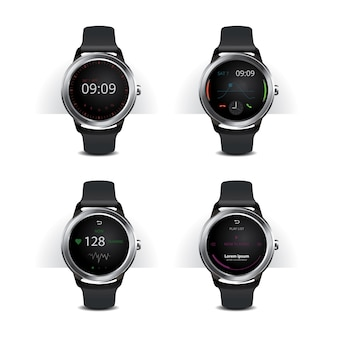 Inteligentny zegarek z cyfrowym zestawem wyświetlacza